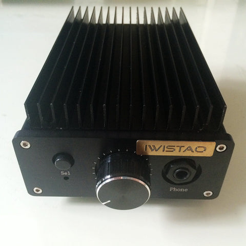 IWISTAO HIFI Power Amplifier Pure Class A 2X8W Combined Headphone Amp 1969 Circuit  Audio