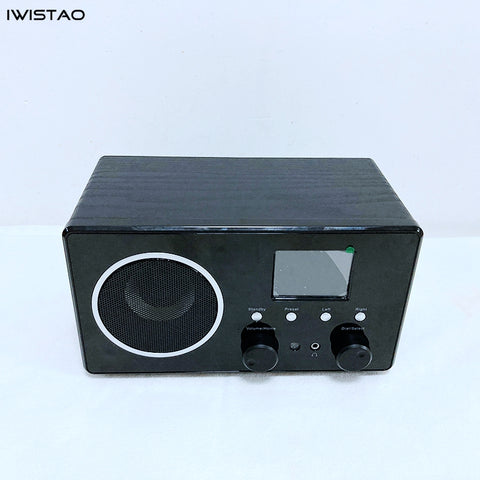 WIFI Radio Internet Web FM DBA Radios Bluetooth Speaker 5W RMS Color Screen Power Adaptor Supply Wooden Casing