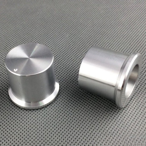 IWISTAO Solid Potentiometer Knob 2pcs/lot Aluminum HIFI Amp Tube Volume OD30 H25 ID6mm Silver DIY