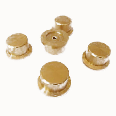 IWISTAO Solid Potentiometer Knob 2pcs/lot Straw Hat Aluminum HIFI Amp OD44 H25 ID6mm Gold DIY