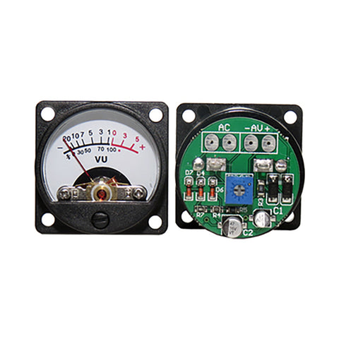 IWISTAO 2pc Free Driver Board & 2pc VU Meters Kit Input AC6-12V Warm Backlit Sound Level Meter 34mm