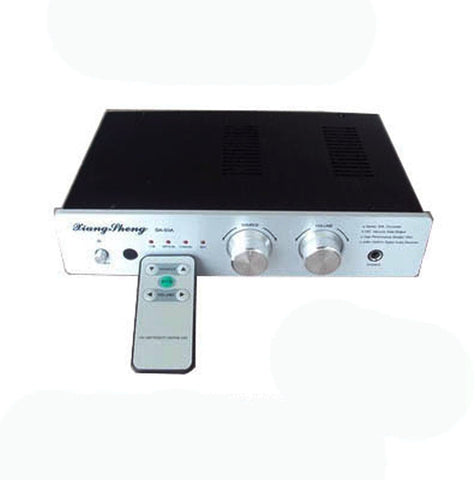 HIFI Tube Advanced Digital Decoder Remote Control with Headphone Amplifier GE5670 Black/Silver Panel