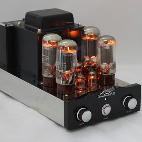 Tube Amplifier HIFI Shuguang 6L6GCR 2X25W Dual Mono-block Integrated Russian 6H1 Preamp USA 6AK5