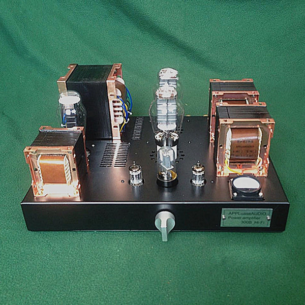 2X8W 300B Single-ended Class A Tube Amplifier British Red Bull Iron Core Transformer HIFI Audio