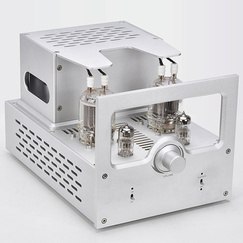 IWISTAO 2X40W Vacuum Tube Amplifier Pull Push FU29 Power Stage 6N2 Preamp Bluetooth 5.0 Whole Aluminum Chassis