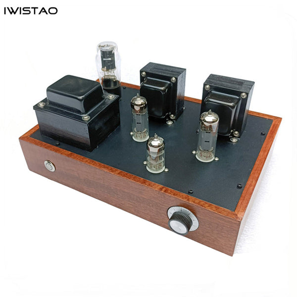 IWISTAO Single-ended Tube Amplifier 2X3.5W Class A 6N1 Drive 6P14 5Z4P Rectifier Scaffolding Soldering Solid Wood Casing AC115/220V