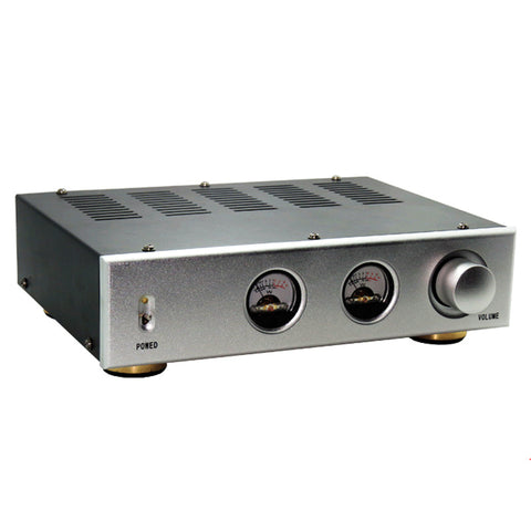 IWISTAO Amplifier Chassis Panel Black Casing Silver/Black Aluminum Iron Enclosure No Including VU meter for Tube Amplifier Audio HIFI DIY
