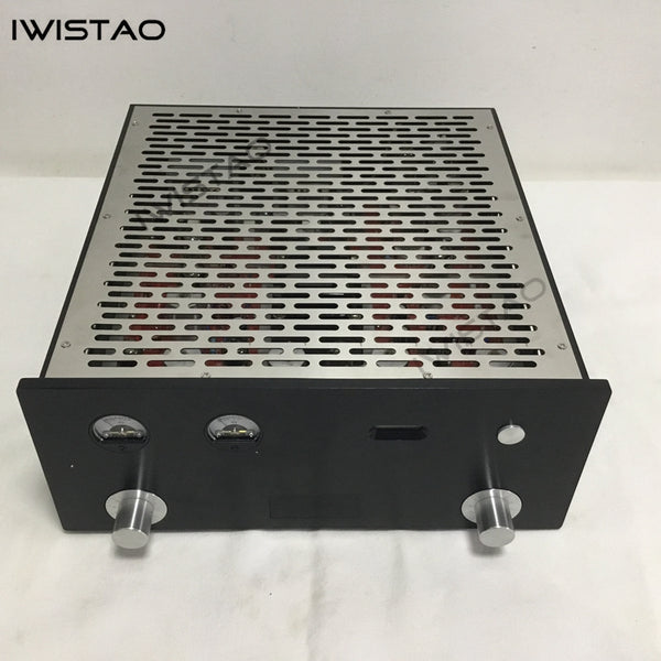 IWISTAO Tube FM Stereo Radio Power Amp 6P1 2x3.5W Whole Metal Chassis High Sensitivity 110V