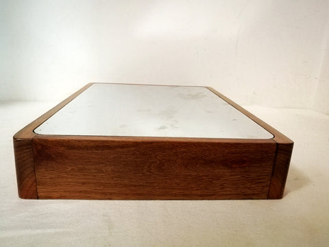 DIY Luxurious Wooden Casing Rosewood Cabinet Housing with Top Down Aluminum Plate for Tube Amp