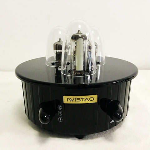 IWISTAO HIFI MINI Tube Hybrid Amplifier Bluetooth 4.0 2x28W Output 6N1 Preamp APT-X 230V Black