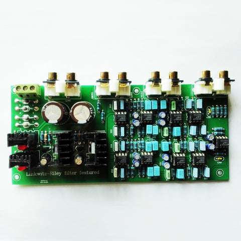 IWISTAO HIFI Electronical 3 Way Crossover PCBA Linkwitz-Riley filter 6-Channel Point 310HZ/3.1KHz