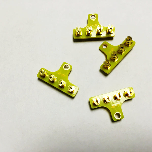 4 Pins T-style Scaffolding Gold-plated Pure Copper for High-end Tube Amplifier Large Spot Goods