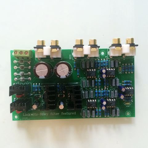 IWISTAO HIFI Electronical 2 Way Crossover PCBA  Linkwitz-Riley filter 4 Channels Point 2.2K Hz