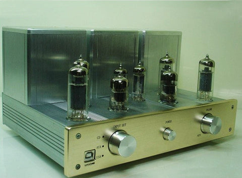 2X12W HIFI Tube Amplifier 6N1 Pre-amplifier 6P1 Pull-Push Amplifier USB Decoding DAC AMP