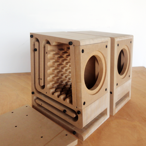 IWISTAO HIFI Speaker Empty Cabinet Kits Labyrinth Structure with High-density Fibreboard for 2.5—4 Inches Full Range Speaker Unit