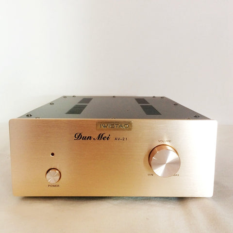 Tube Buffer Preamplifier Music Fidelity 12AU7 Stereo No Gain Sweet Natural Taste Silver Panel