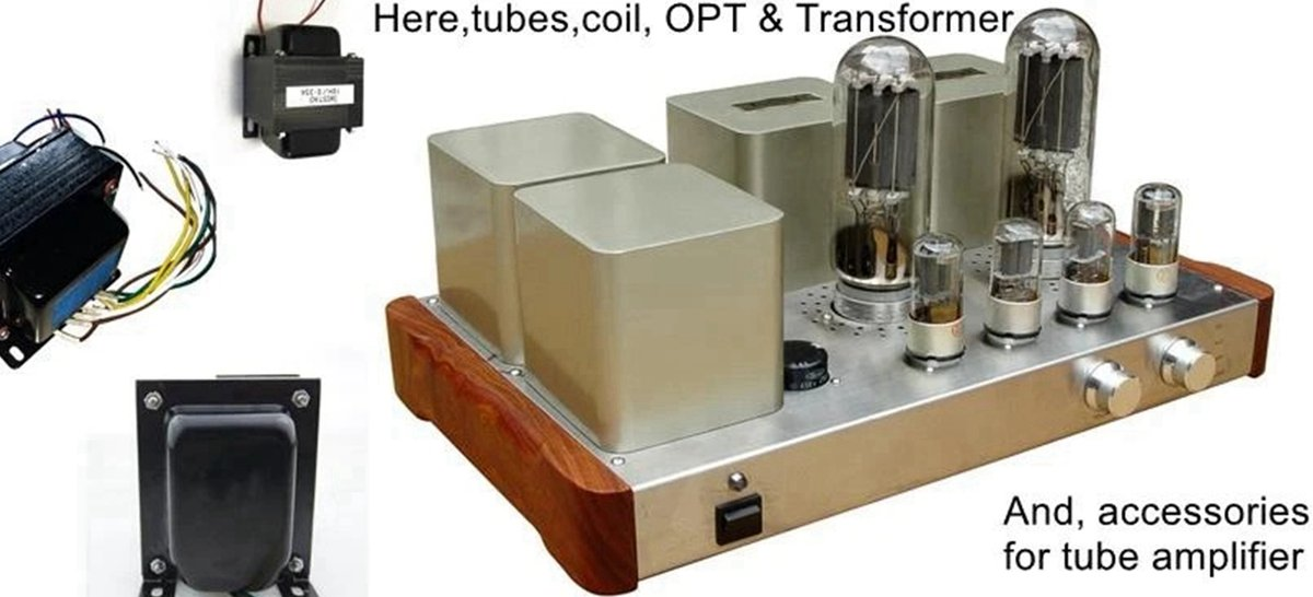 HIFI Audio,Bluetooth Tube Amplifier,Preamp,Decoder,Cables