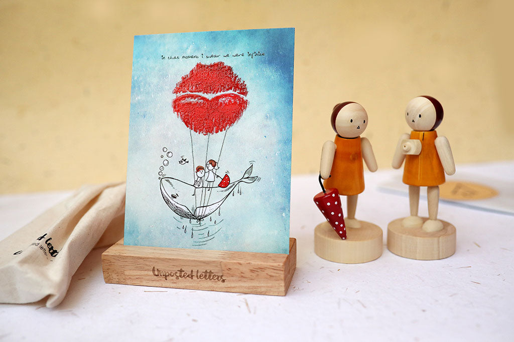 Desktop Art | Set of Four Art Prints | Wooden Dolls | Wooden Dock