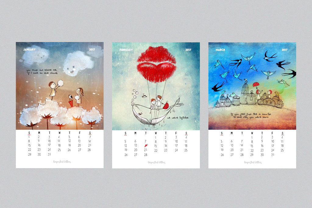 Unposted Letters | Art Calendar 2017 | Limited Edition