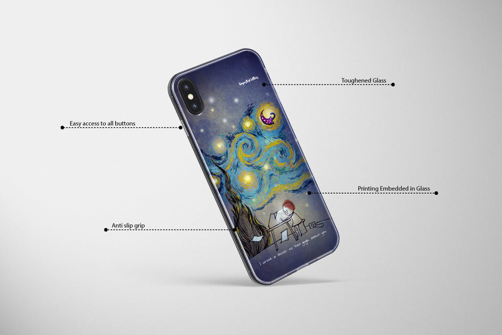 Unposted letters Premium glass mobile cover