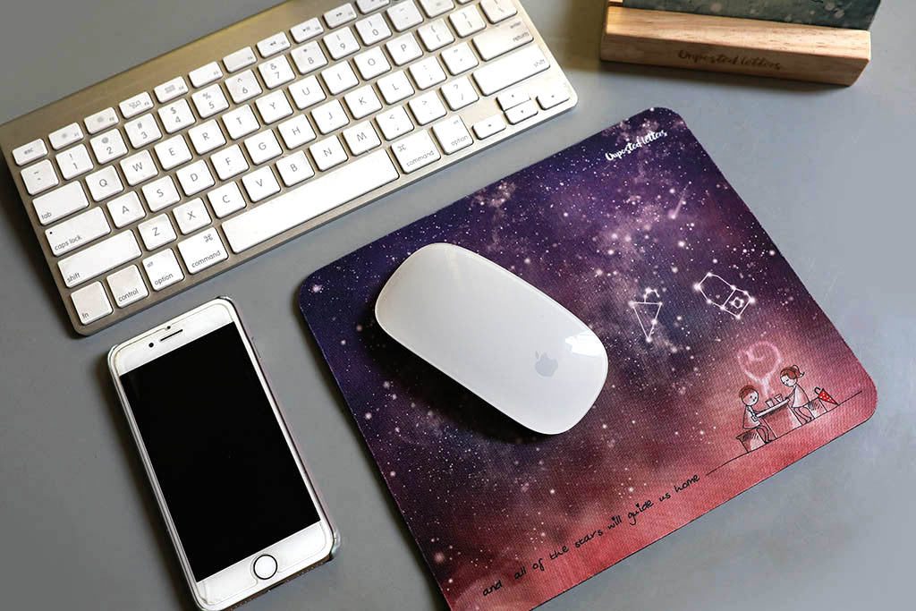 Unposted Letters - Mouse Pad - And all of the stars