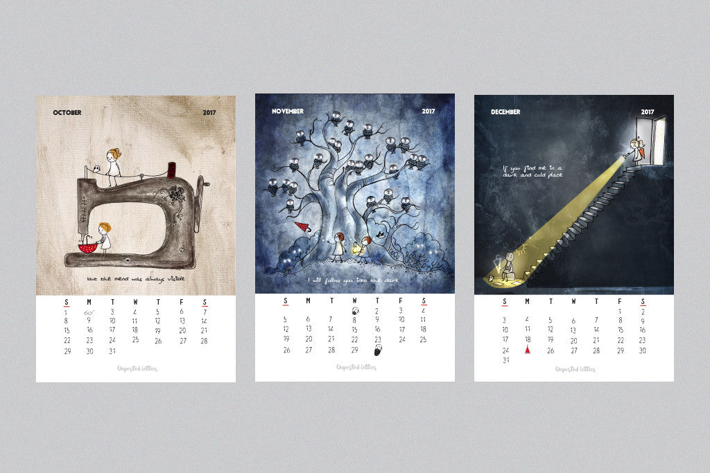 Art Calendar | Unposted Letters | Limited Edition