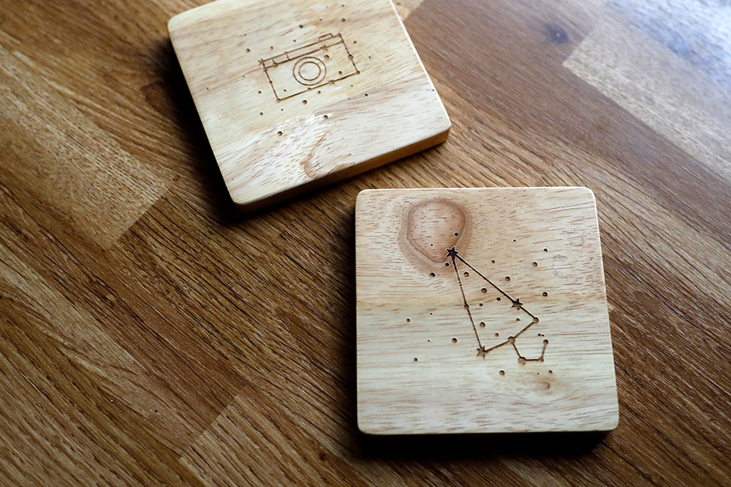 Wooden Coasters | Desktop Series | Unposted Letters