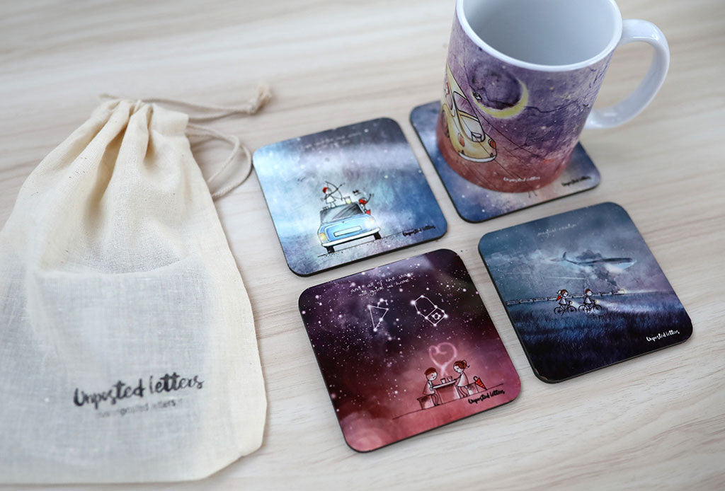 Coasters | Desktop Series | Unposted Letters