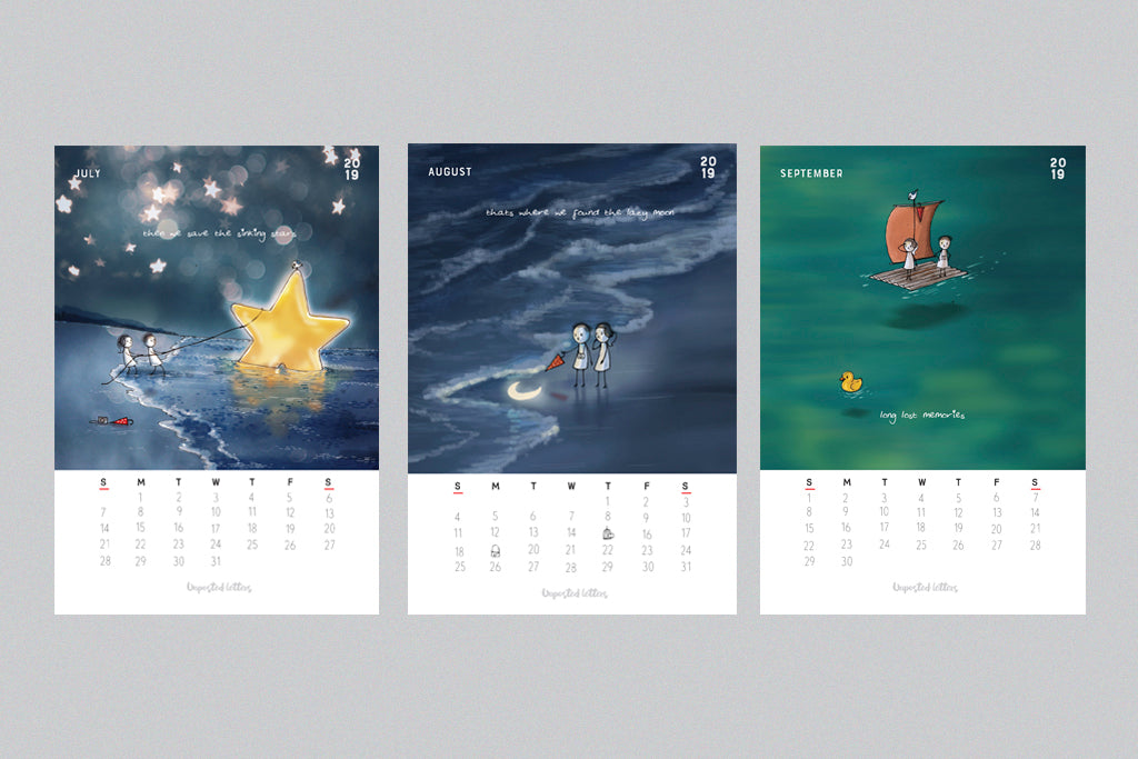 Calendar 2019 | Unposted Letters | Limited Edition