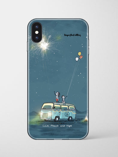 Premium Glass Phone Case - 'Love, Peace and Hope'