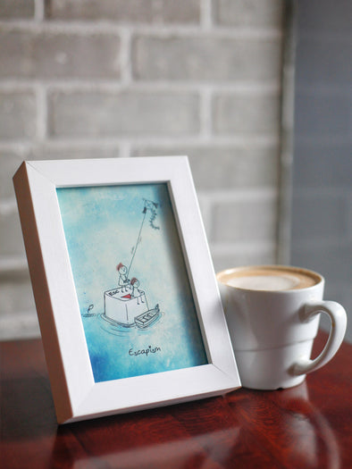 Framed Mini Art - Escapism - Unposted Letters Store - 1