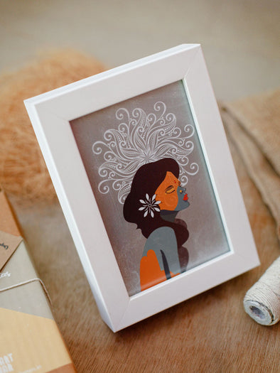 Framed Mini Art - Human Tapestry - Illusion - Unposted Letters Store - 1