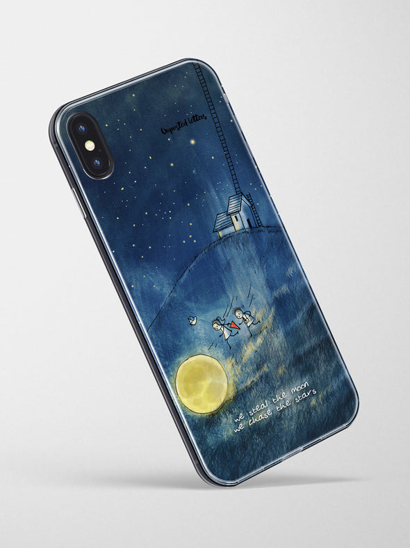 Premium Glass Phone Case - 'We Steal the Moon'