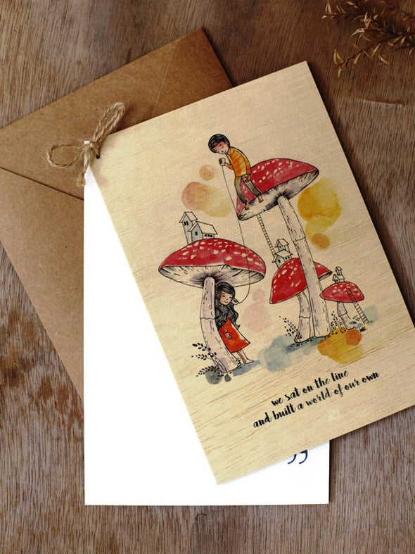 Wishing Card - Print on Wood - Our world - Unposted Letters Store - 4