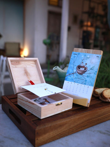 Art Calendar + Wish in a Box 'Let the Love'