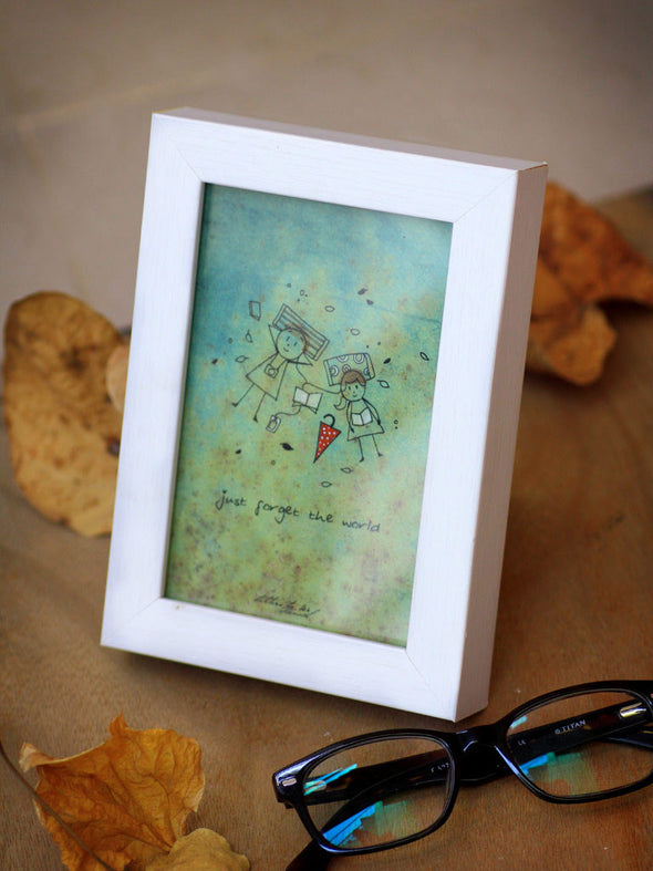 Framed Mini Art - Just forget the world - Unposted Letters Store - 3