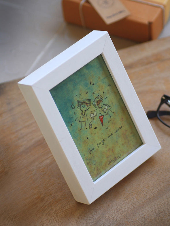 Framed Mini Art - Just forget the world - Unposted Letters Store - 4