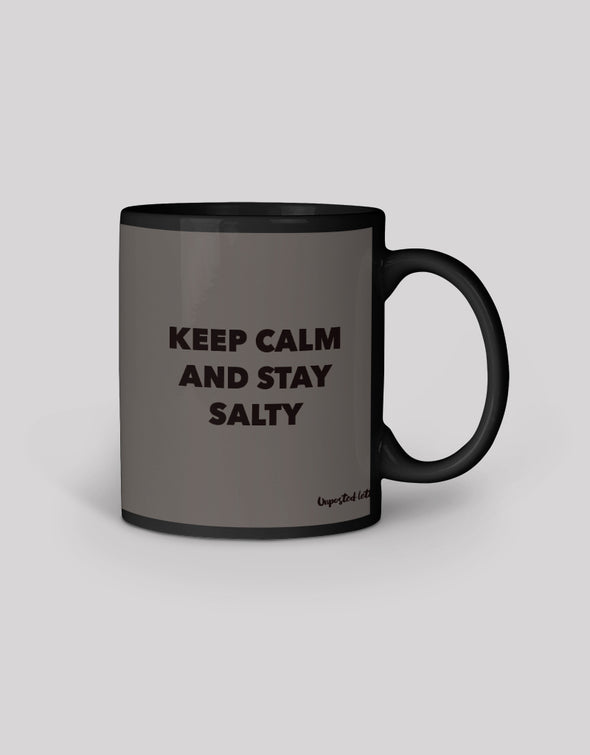 Black Coffee Mug - Keep Calm and Stay Salty