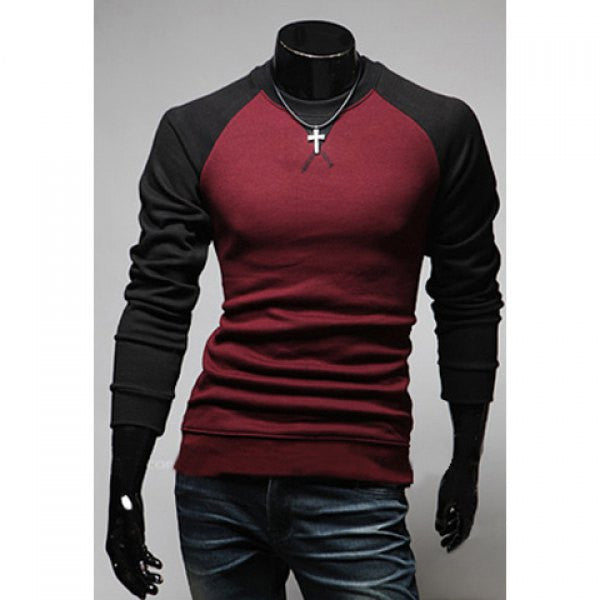 Fashion Style Scoop Neck Long Sleeve Slimming T-Shirt