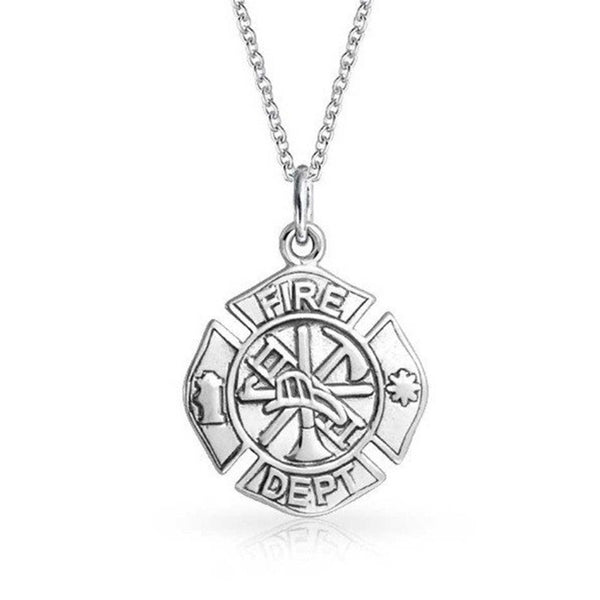 Firefighter Maltese Cross Necklace