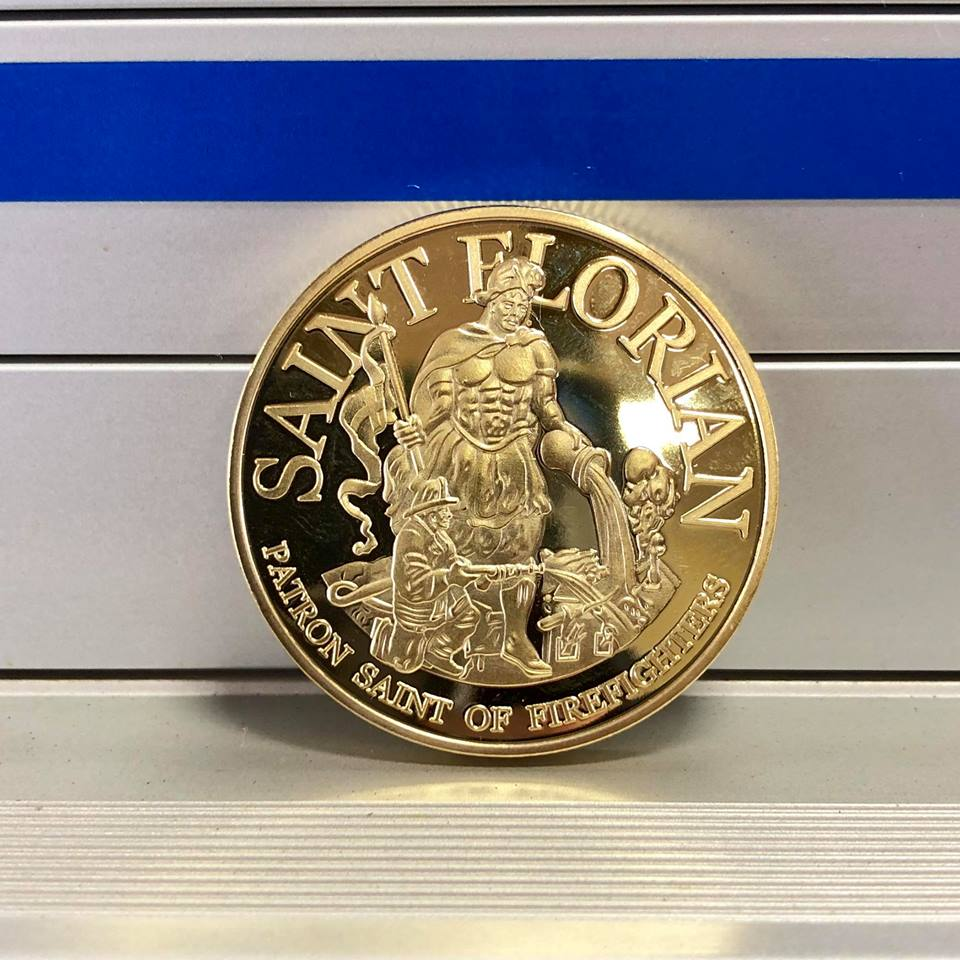 Golden Firefighters Rescue Coin