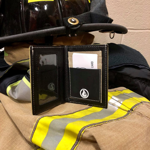Firefighter Bunker Gear Bi-fold Wallet