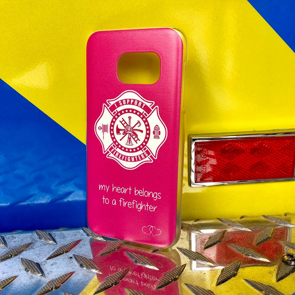 PINK My Heart Belongs To A Firefighter Phone Case