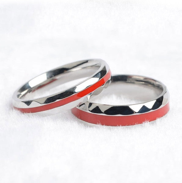 tungsten thin brushed ring diamonds carbide line rings red cz engagement firefighter pin ringswedding ringtungsten