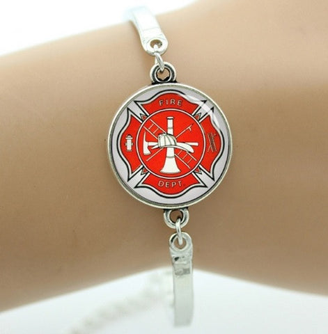 Firefighter Maltese Cross Bracelet