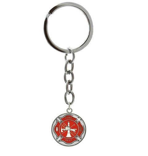 Firefighter Maltese Cross Protection Key Chain