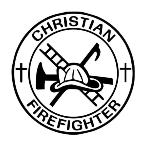 Christian Firefighter Window Decal Sticker