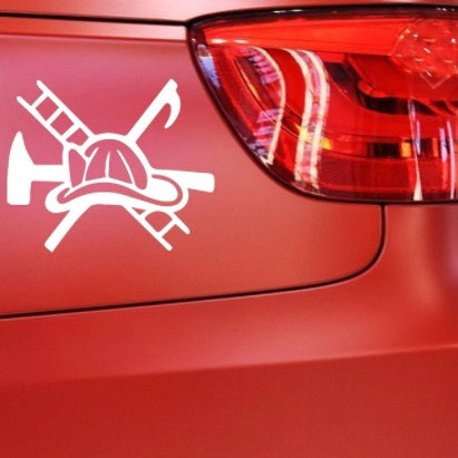 Firefighter Life Window Decal Sticker