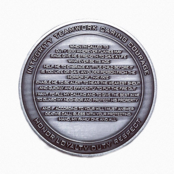Firefighter Prayer Coin