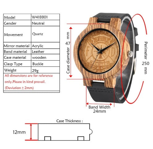Luxury Handcrafted Firefighter Watch